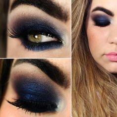 maquiagem sombra azul escura