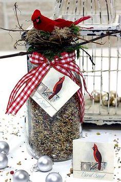 mason jar birdfeeder