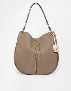 New Look Zip Chain Hobo Bag