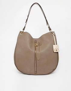 New Look Zip Chain Hobo Bag