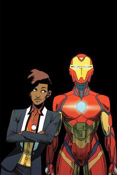 Something Marvel? Bit of both! Marvel Comic Universe, Marvel Art, Marvel Heroes, Marvel Cinematic Universe, Marvel Avengers, Marvel Comics, Comics Universe, Riri Williams Iron Man, Iron Heart Marvel