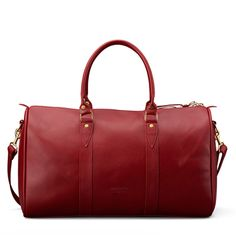 Going upstate, or to the countryside for Thanksgiving? Don't forget your Emerson Weekender in Red Leather.