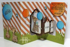 Frances Byrne using the Pop it Ups Tags Pivot Card and Outdoor Edges die sets by Karen Burniston for Elizabeth Craft Designs. - Tag You're It!