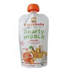 Natural Nutrition Premium Organic Homestyle Meals Meals for Your Family Chick Chick - A blend of organic chicken, vegetables & quinoa Our HappyBaby™ organic baby food pouches are shelf stable, affordable, and convenient for moms on-the-go. Easy Organic Meals for Baby: Simple starting solids for baby Unique premium recipes Excellent value compared to jars Think Outside the jar.™ Our mission is to provide you with the absolute best foods for your little one. We work with Dr. Sears to come up…