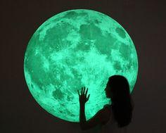 [바보사랑] 데코스티커, 나만의 달이 되다. #월데코스티커 #인테리어 #장식 #디자인 #야광 #달 #보름달 #밤 #하늘 #방꾸미기 #WallDecoSticker #Interior #Decor #Design #Glow #Moon #FullMoon #Night #Sky #Roomdecorating