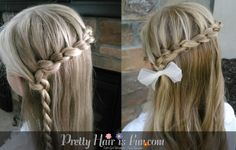 Little Girl's Hairstyles: Knotted Braid (Daisy Chain) Lace Braid