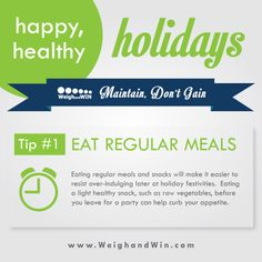 Happy, #Healthy Holiday: Tip #1: Eat Regular Meals