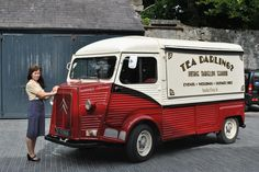 Django the Citroen H Van, Tea Darling.  Mobile Tea room