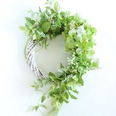 紫陽花 アマランサスリース グリーン・ホワイト