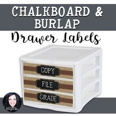Looking labels to complement a rustic or coffee shop themed classroom? Create an organized classroom with this trendy set of labels. Set includes labels that will fit a plastic 3 drawer organizer: Copy, File, Grade, and Hand OutNOTE: F Classroom Layout, Classroom Setting, Classroom Design, School Classroom, Classroom Themes, Future Classroom, Drawer Labels, Classroom Environment, Teacher Organization