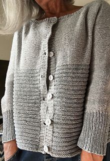 Ravelry: Dolly pattern by Regina Moessmer Dolly is worked in stockinette stitch on the wrong side to wear the purled side out. It is knitted seamlessly from top down. Knit Cardigan Pattern, Sweater Knitting Patterns, Knit Patterns, Free Knitting, Knitting Sweaters, Vest Pattern, Afghan Patterns, Baby Cardigan, Crochet Cardigan
