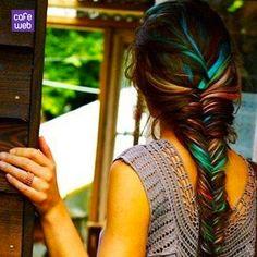Capelli colorati con gessetti: tendenze estate 2013 - Tecnica Hair Chalking