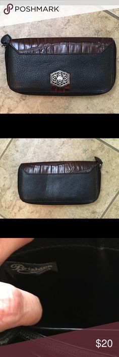 Brighton leather black and brown wallet Beautiful leather wallet in excellent condition Brighton Bags Wallets