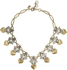 J.Crew Gold-tone crystal necklace on shopstyle.com