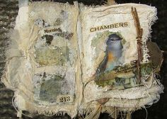 """Art pages by Joanna Pierotti from my online """"The Thread That Weaves"""" workshop."""