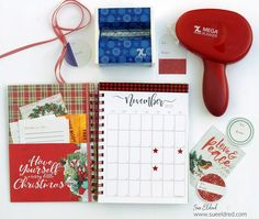 Create a Personalized Holiday Planner using Xyron's Holiday Bundle Christmas In July, Little Christmas, Diy Christmas, Holiday Planner, Creative Workshop, Decoration, Face And Body, Merry, Scrapbook