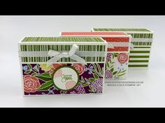 Note Card Box Using Sweet Soiree Speciality DSP – Intatwyne Designs