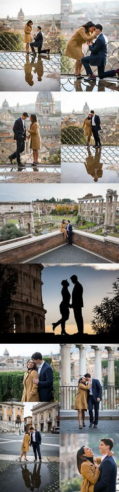 Surprise wedding #proposal in Rome Italy. With an #engagement session around the city. Photos by www.andreamatone.com