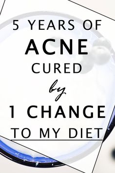Acne - all it took was 2 weeks and I'd kicked its butt. This is the 1 change I made, could this be your acne trigger?