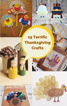 Terrific and fun Thanksgiving crafts for kids.