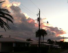 Beautiful sunset at home