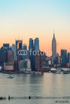 Photo: New York City sunset