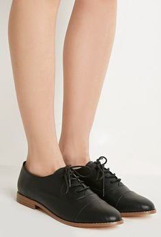 Classic Faux Leather Oxfords - Womens shoes and boots | shop online | Forever 21 - 2000113445 - Forever 21 EU