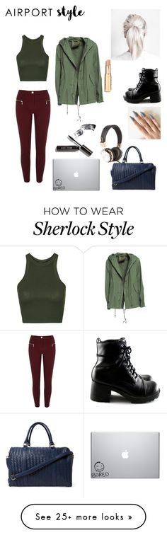 """Airport"" by h-may on Polyvore featuring Topshop, Mr & Mrs Italy, River Island, Deux Lux, Bobbi Brown Cosmetics, GetTheLook and airportstyle"