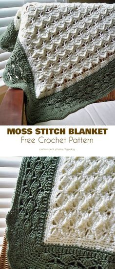 Textured Baby Blanket with Shell Edging Free Patterns - Textured Baby Blanket with Shell Edging Free Patterns Moss and Shells Stitch Blanket Free Crochet Pattern Crochet Pillow, Crochet Afghans, Afghan Crochet Patterns, Baby Blanket Crochet, Crochet Stitches, Baby Afghans, Crocheted Blankets, Knitted Baby, Crochet Gratis