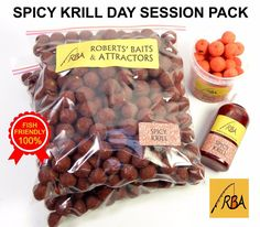 RBA Spicy Krill Day Session Pack FRESH-FREEZE 14mm HNV Boilies Carp Fishing Bait #RBA