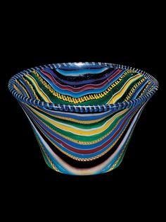 Ribbon Glass Cup. Roman Empire. c. 25 BC-50 AD.