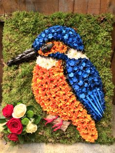 Kingfisher funeral tribute  www.hubbardsfloristcoventry.co.uk