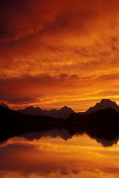 Sunset at Oxbow, Grand Teton National Park; photo by .Fred Stillings