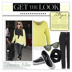 """Jessica Alba airport style"" by jamyah-xoxo-its-me ❤ liked on Polyvore featuring Topshop, Vans, Steffen Schraut, Mexx, Kale, Athleta and Ray-Ban"