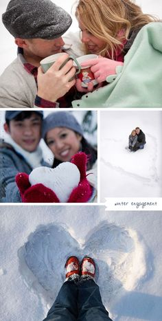 winter engagement inspiration  // inspiración para prebodas invernales    #invierno #esession #e-session #snow #sky #cold #warm