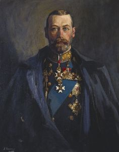 Le roi George V Royal Collection Trust, Royaume-Uni) de Sir John Lavery Roi George, King George, Royal Family Portrait, Family Portraits, Queen Mary, King Queen, Adele, English Royalty, Queen Of England