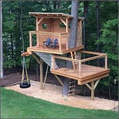 09 diy playground project ideas for backyard landscaping Outdoor Forts, Kids Outdoor Play, Backyard For Kids, Backyard Projects, Backyard Ideas, Garden Ideas, Pallet Projects, Pallet Ideas, Backyard Play Areas