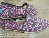 chevron hand painted toms shoes - Google Search