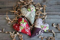 Купить Сердечко-саше - разноцветный, сердечко, сердце, саше, текстильное сердце, текстильная игрушка, хлопок