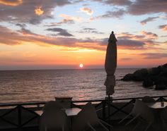 Sunrise from the terrace of Hostal Empuries, L'Escala