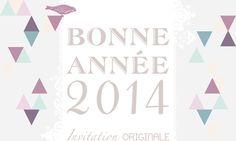Carte de voeux, Bonne Année. Création exclusive www.invitation-originale.com