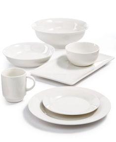 Martha Stewart Essentials Dinnerware Collection Created for Macy\u0027s | macys.com  sc 1 st  Pinterest & Apilco Tradition Porcelain Dinnerware Collection | Porcelain ...