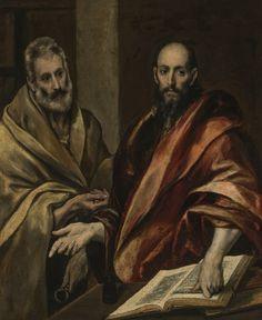 El Greco (Doménikos Theotokópoulos, 1541–1614) - The Apostles Peter and Paul, 1587–92 - El Hermitage trae a Ámsterdam el Siglo de Oro español - 20minutos.es