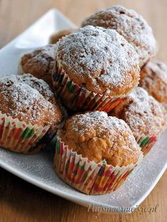Muffiny marchewkowe Helathy Food, Cake Cookies, Cupcakes, Healthy Snacks, Healthy Recipes, Tart, Muffins, Clean Eating, Food And Drink