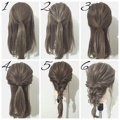 Wavy Chignon - 40 Chic Chignon Buns That Bring the Class into Formal and Casual Looks - The Trending Hairstyle Work Hairstyles, Trendy Hairstyles, Hairstyle Ideas, School Hairstyles, Braided Hairstyles, Simple Elegant Hairstyles, Medium Hair Styles, Curly Hair Styles, Hair Arrange