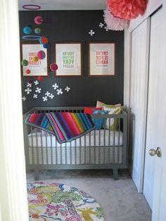 Superb drei bilder graue wand kosmos deko im babyzimmer auff llige Ideen u Babyzimmer komplett gestalten