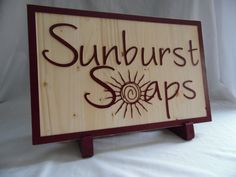 Stand for Custom Business Sign by WoodNHook on Etsy