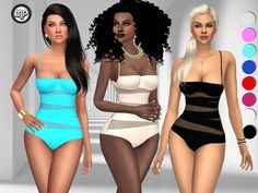 MP Triangle swimsuit at BTB Sims – MartyP via Sims 4 Updates