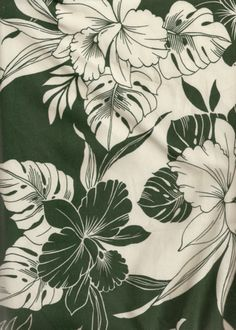 70millia Tropical Two - Toned green & white, Hawaiian apparel cotton.