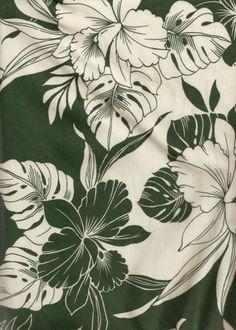 Millia - Barkcloth Hawaii Fabrics - Vintage Style Hawaiian Fabrics two Toned & Hawaiian Hibiscus Flower apparel cotton.